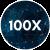 100x logo